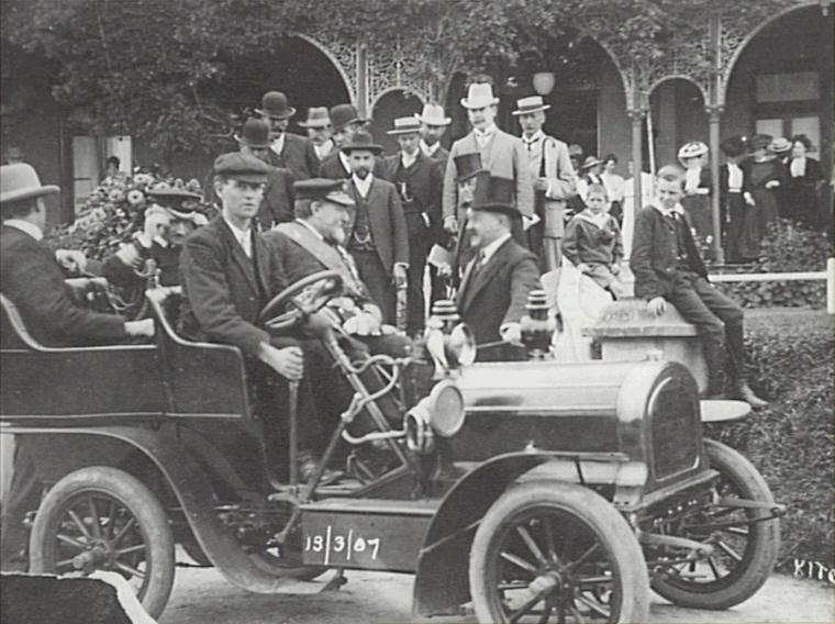 Original party leaving the Carrington Hotel to open the Katoomba Water Supply