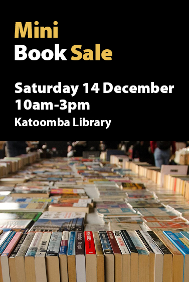 Mini book sale, Katoomba Library, 14 December