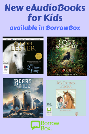 eAudiobooks for kids available through the BorrowBox App.