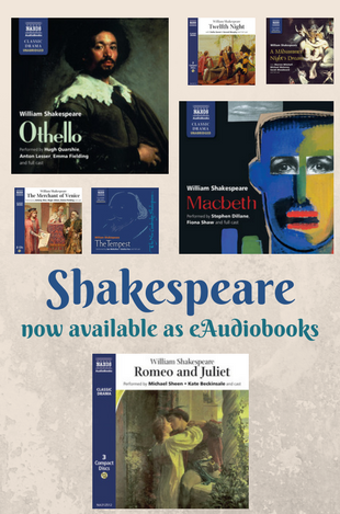 Shakespeare eAudiobooks are available through the BorrowBox App