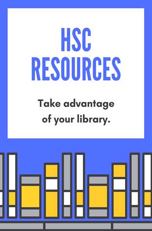 HSC resources available at the library